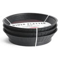 Tablecraft Black Plastic Round Basket with Base 10-1/2\x22 Diameter