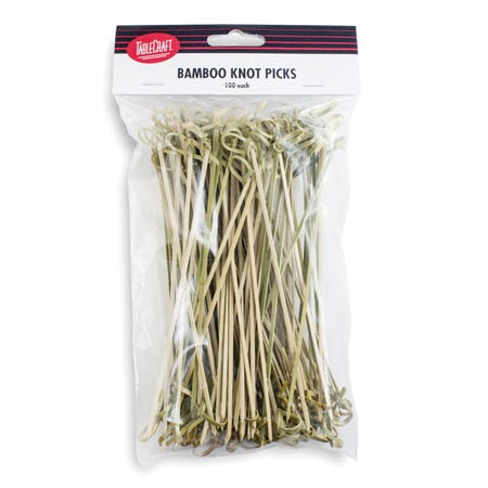 "Tablecraft 3-1/2"" Knot Bamboo Picks 100-Count"
