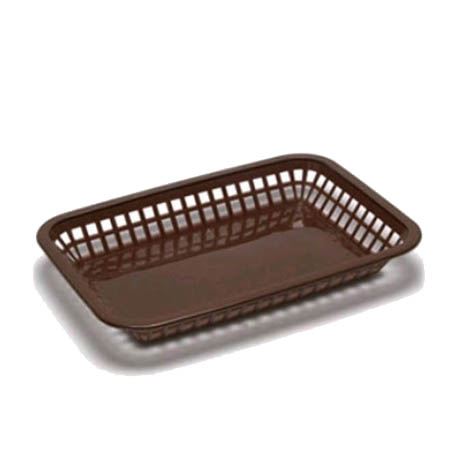 "Brown Plastic Rectangle Basket 11-3/4"" x 8-1/2"" x 1-1/2"""