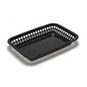 Black Plastic Rectangle Basket 11-3/4\x22 x 8-1/2\x22 x 1-1/2\x22