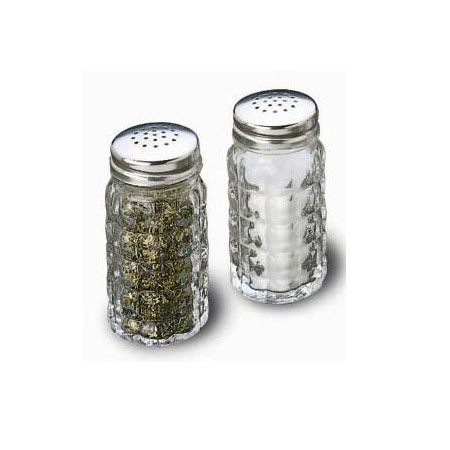 Tablecraft 1.5 oz. Old Fashioned Style Glass Salt and Pepper Shaker