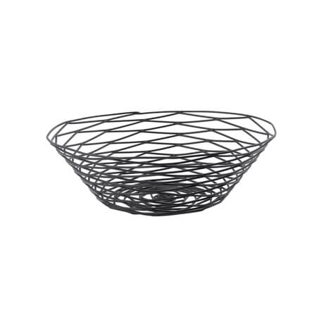 "Tablecraft Black Artisan Round Basket 10"" x 3"""