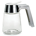 Tablecraft 8 oz. Glass Syrup Dispenser with Chrome Plated Poly Top
