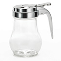 Tablecraft 6 oz. Glass Syrup Dispenser with Metal Top