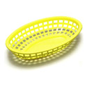 "Yellow Plastic Oval Basket 9-3/8"" x 6"" x 1-3/8"""