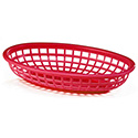 Tablecraft Oval Plastic Food Baskets