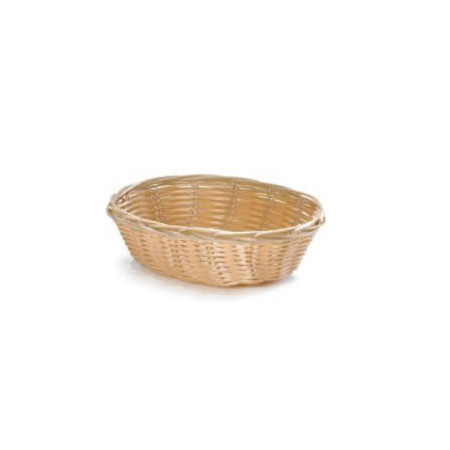 "Woven Poly Round Basket 8-1/2"" x 2-1/4"""