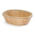 "Woven Poly Oval Basket 7"" x 5"" x 2"""