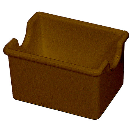 Tablecraft Brown Styrene Sugar Packet Caddy
