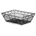 Black Metal Rectangle Mediterranean Basket 9\x22 x 6\x22 x 3\x22