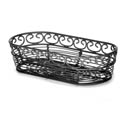 Tablecraft Black Metal Oblong Mediterranean Basket 9\x22 x 4\x22 x 2\x22
