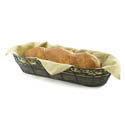 Tablecraft Black Metal Oblong Mediterranean Basket 15\x22 x 6-1/2\x22 x 3\x22