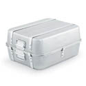"Vollrath 23.25-Quart Wear-Ever Aluminum Double Roaster Top and Bottom with Straps 20-1/8"" x 16-1/8"" x 9-3/4"""