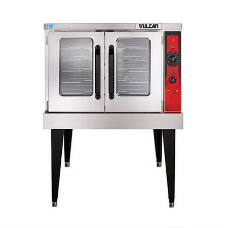 "Vulcan Full Size Single Deck Natural Gas Convection Oven with Legs and Casters 40""W"