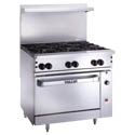 Vulcan Endurance 6-Burner Natural Gas Range with Baker\'s Oven 36\x22W