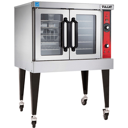 "Vulcan Full Size Single Deck 208V Electric Convection Oven with Casters 40"" W"