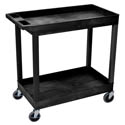 "Luxor 2-Shelf 400 lb. Capacity Utility Bus Cart 35-1/4""L x 18""W x 34-1/4""H"
