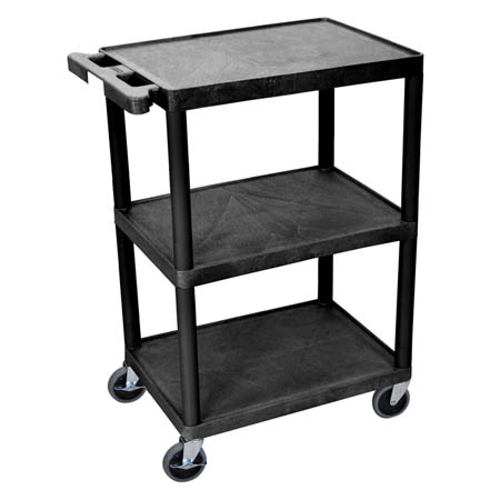 Luxor 3-Shelf 400 lb. Capacity Utility Bus Cart