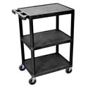 "Luxor 3-Shelf 300 lb. Capacity Utility Bus Cart 24""L x 18""W x 34""H"