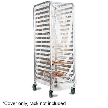 Marko by Carlisle Transparent Plastic Cover with Velcro Flaps for Full-Size Sheet Pan Rack