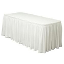 "White Twill Table Skirting 21-1/2'L x 29""H"
