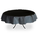 "Black Twill Tablecloth 76"" Round"
