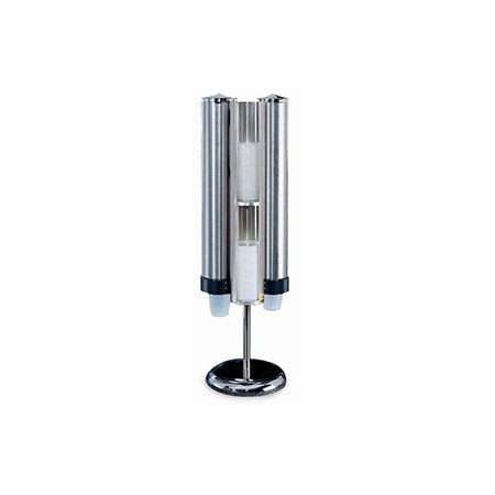 San Jamar Stainless Steel Cup and Lid Dispenser Kit with Stand