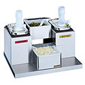 San Jamar Self-Service Condiment Center with 2 Trays and Pumps