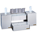 San Jamar Self-Service Condiment Center with 4 Trays and 2 Pumps