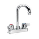 "Krowne 4"" Heavy Duty Center Deck Mount Faucet with 3-1/2"" Gooseneck Spout"