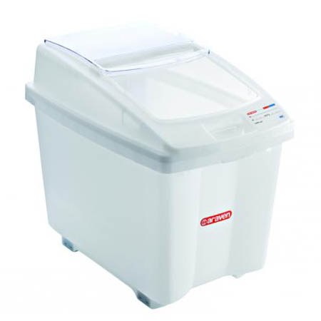 "Araven 26 Gallon Mobile Ingredient Bin 27-3/4""W"