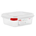 Araven 1.2-Quart Polypropylene Food Storage Container 6-7/8\x22 x 6-3/8\x22 x 2-1/2\x22