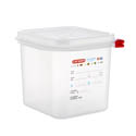 Araven 2.7-Quart Polypropylene Food Storage Container 6-7/8\x22 x 6-3/8\x22 x 6\x22