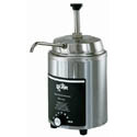 Star 4-Quart Stainless Steel Hot Fudge Warmer with Pump