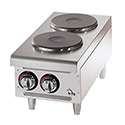 "Star 208/240V 2-Burner Electric Hot Plate with Solid Top 12""W"