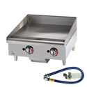 Star 56,600 BTU Manual Control Gas Griddle 24