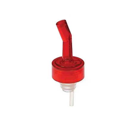 Bar Maid WhiskyGate Red 3-Count Liquor Pourers with Red Collar and Protective Screen