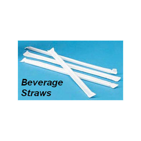 "7-3/4""L Wrapped Beverage Straws 500-Count"