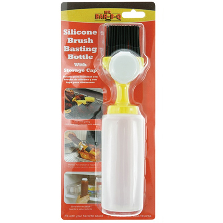 Chef Master Silicone Brush Basting Bottle with Storage Cap