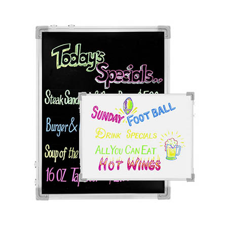 "Chef-Master Double-Sided Reversible Write-On Message Board with Markers 24"" x 36"""