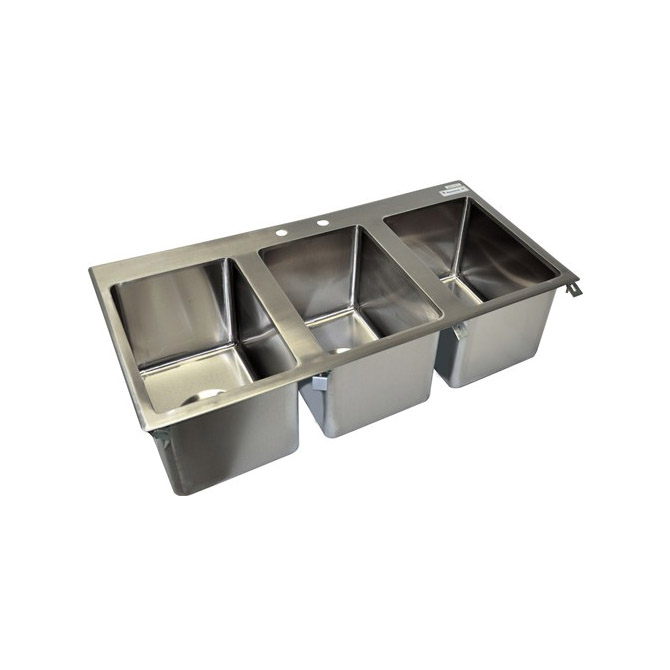Faucet For 3 Compartment Sink : compartment sinks sauber 3 compartment stainless steel drop in sink ...