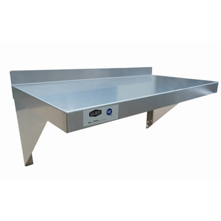 "Sauber Stainless Steel Wall Shelf 24""L x 12""W"