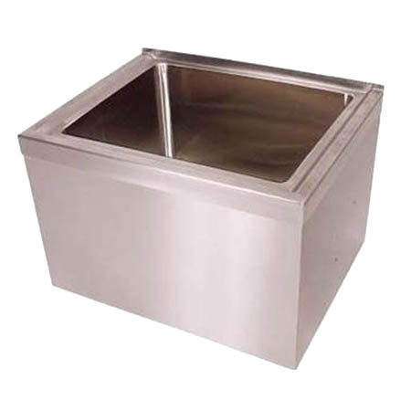 "BK Resources Stainless Steel Mop Sink 24-5/8""W x 19-1/4""D x 16""H"