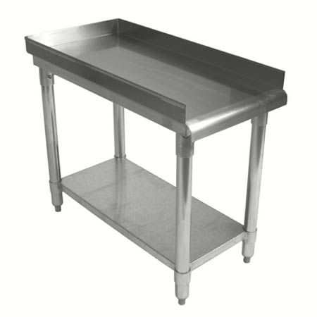 "Sauber Stainless Steel Equipment Stand with 2"" Risers 18""W x 30""D x 24""H"