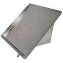 "BK Resources Stainless Steel Slant Wall Rack 21"" x 22"""
