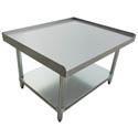 "Sauber Stainless Steel Equipment Stand with 2"" Risers 30""W x 24""D x 24""H"