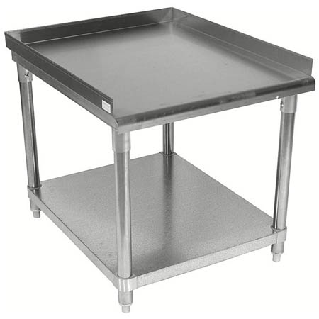"Sauber Stainless Steel Equipment Stand with 2"" Risers 48""W x 30""D x 24""H"