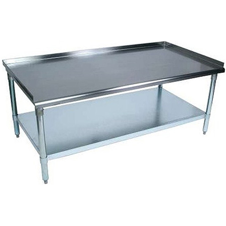 "Sauber Stainless Steel Equipment Stand with 2"" Risers 72""W x 30""D x 24""H"