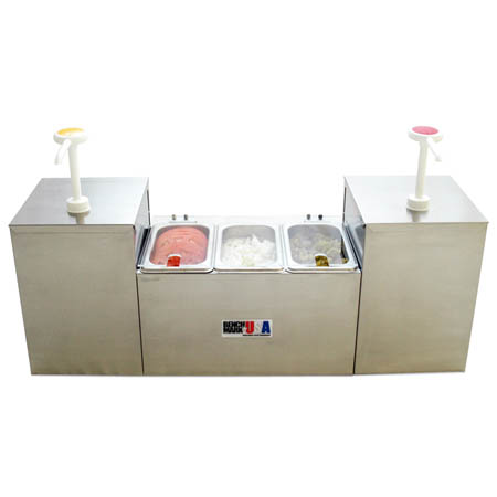 Benchmark USA Self-Service Condiment Center with 3 Trays and 2 Pumps