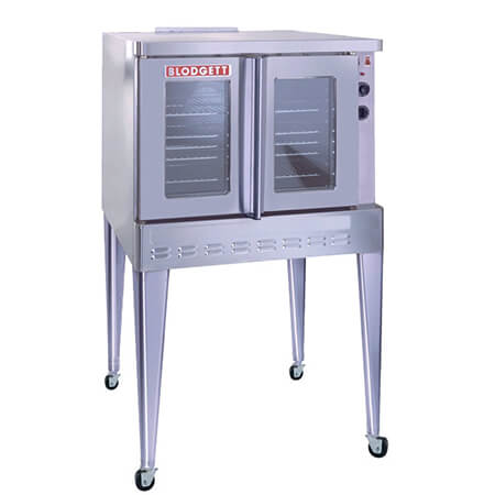 Blodgett Full Size Single Deck Dual Glass Doors Natural Gas Convection Oven with Legs and Casters